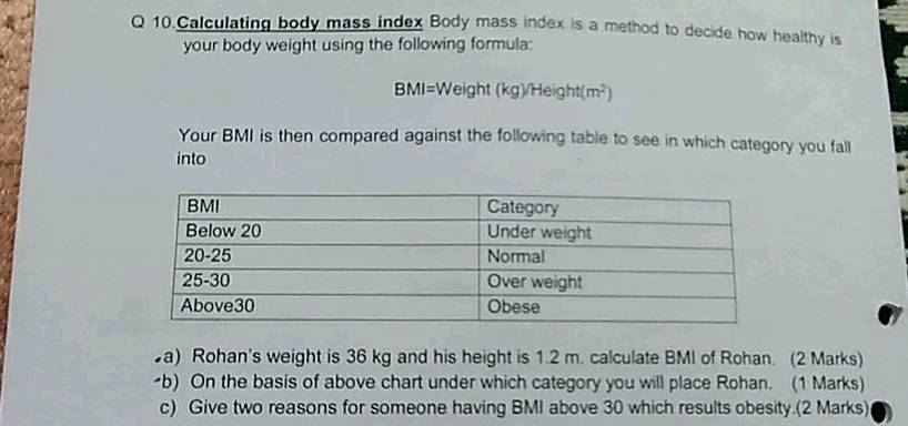 Ulating Body Mass Index Body Mass Index Is A Method To Decide How Healthy Is Your