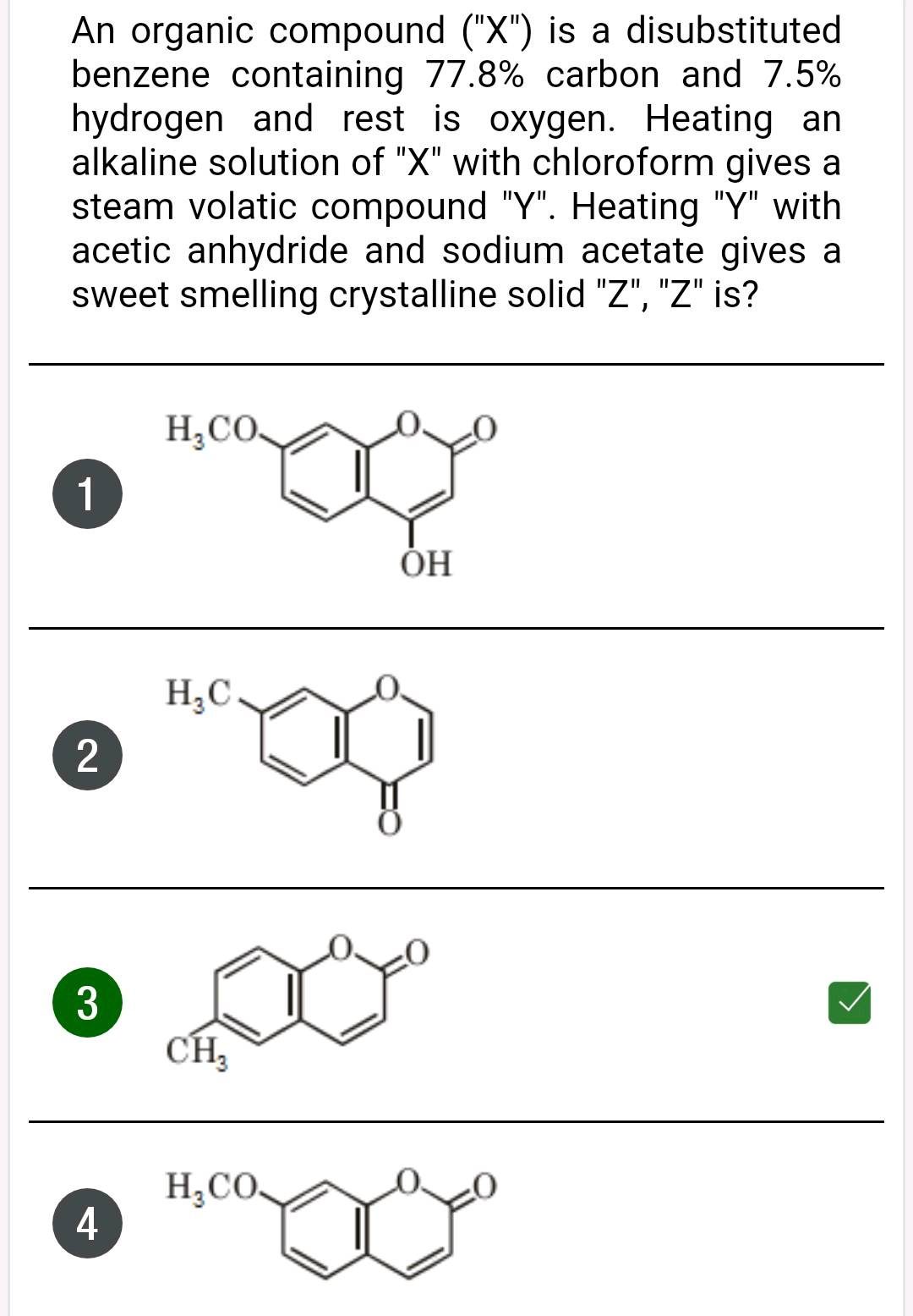 An Organic Compound X Is A Disubstituted Benzene Containing 77 8 Carbon And 7 5