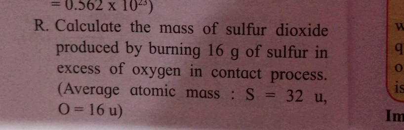 Sulfur atomic mass rounded off